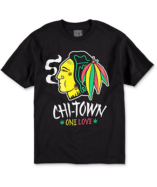 State Of Mind IL Chi-Town One Love Black T-Shirt