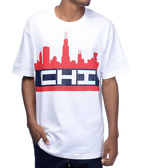 State Of Mind Illinois Chiline White T-Shirt