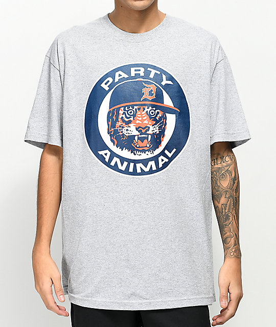 State Of Mind MI Animal Grey T-Shirt