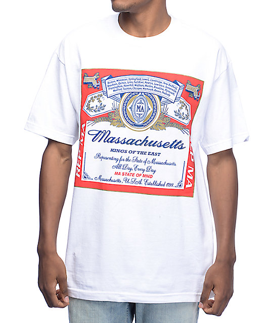 State Of Mind Massachusetts Weiser White T-Shirt