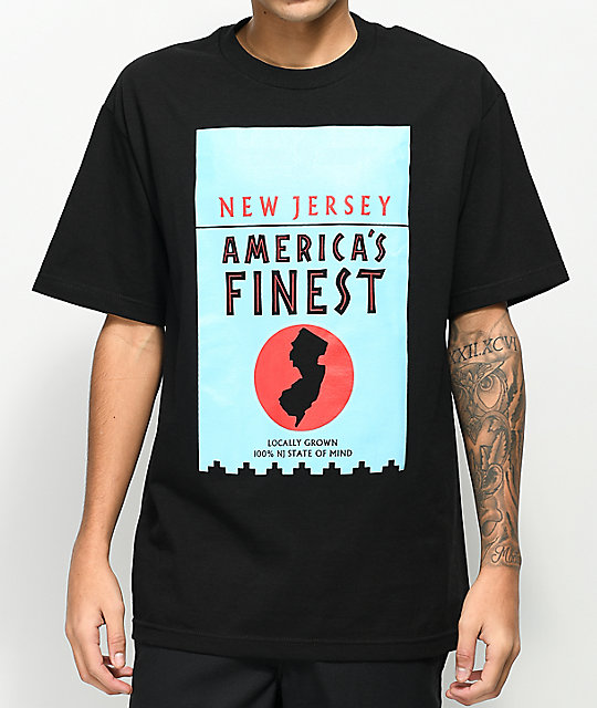 State Of Mind NJ America's Finest Black T-Shirt