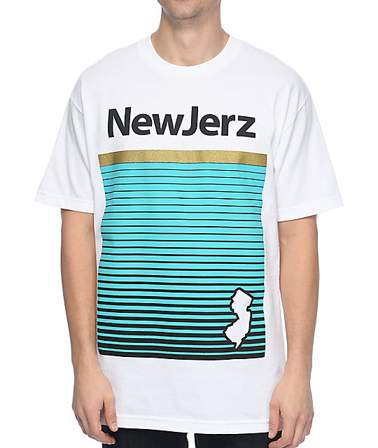 State Of Mind NJ NewJerz White T-Shirt