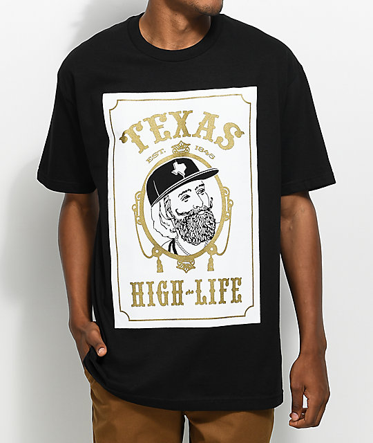 State Of Mind TX Papers Black T-Shirt