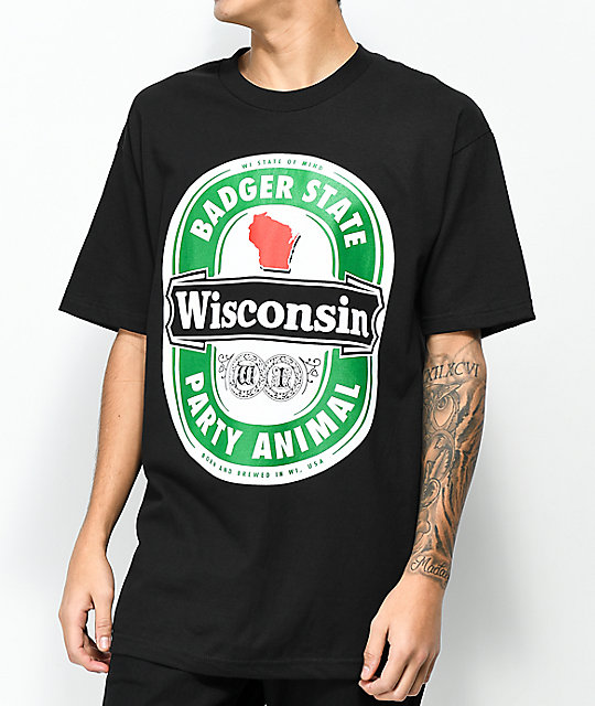 State Of Mind WI Import Black T-Shirt