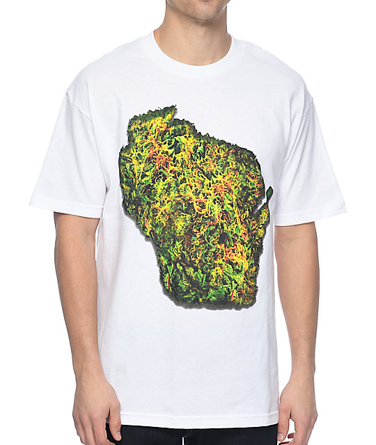 State Of Mind Wisconsin Bud White T-Shirt