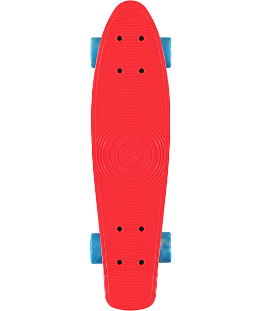 "Stereo Vinyl Cruiser Red & Blue 22.5""  Complete Cruiser Board"