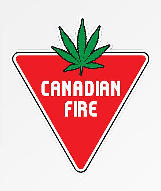 Stickie Bandits Canadian Fire Sticker