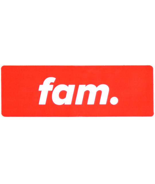 Stickie Bandits Red Fam Sticker