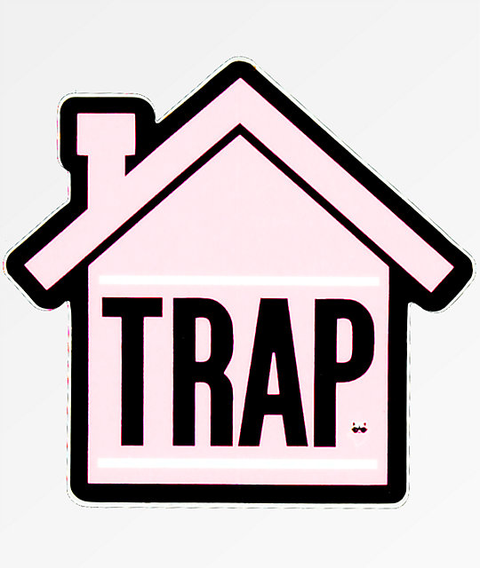 Stickie Bandits Trap Pink House Sticker