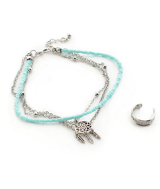 anklet dream surfers silver w c product catcher