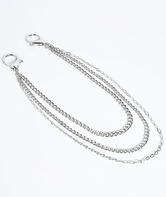 Stone + Locket Silver Pocket Chain