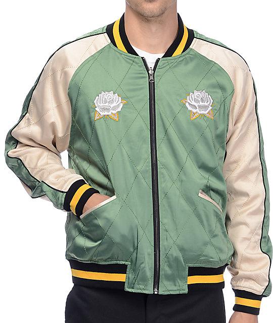 Straight to hell whole world or nothing reversible varsity jacket gumiabroncs Choice Image