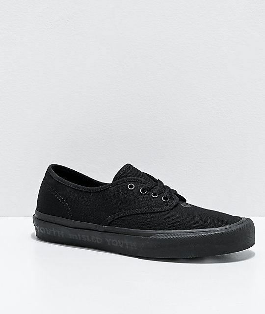 Straye x Zero Gower Black Skate Shoes