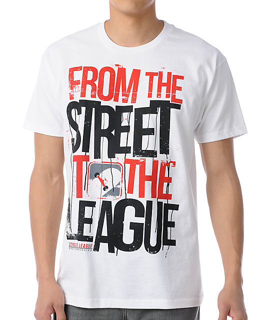 Street League From The Streets White T-Shirt