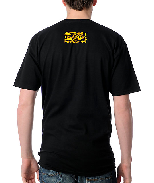 Street League Skateboarding Marker Black T-Shirt
