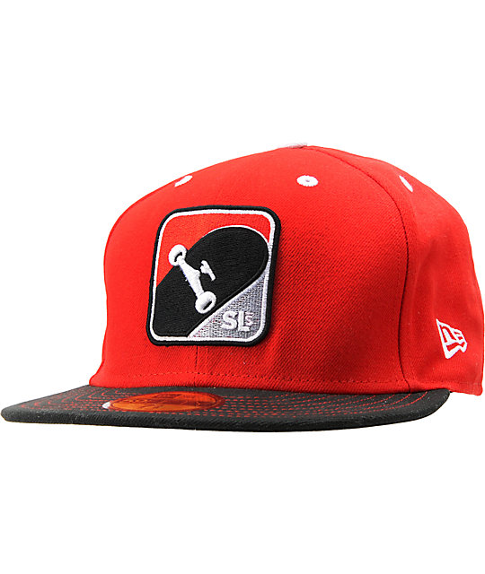 Street League Skateboarding SLS Deck Red New Era Fitted Hat