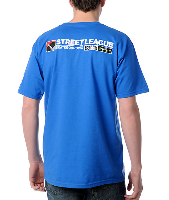 Street League Skateboarding Tour Blue T-Shirt