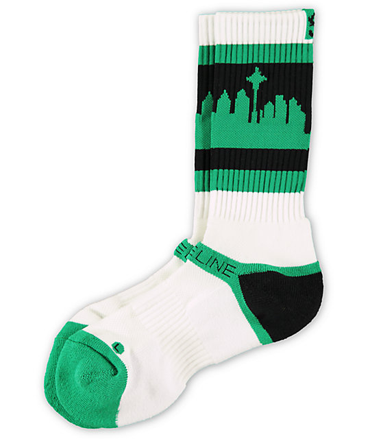 Strideline Classic SeaTown Forest Green Crew Socks