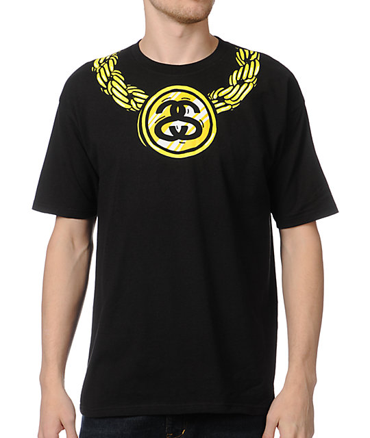 Stussy Chained Black T-Shirt