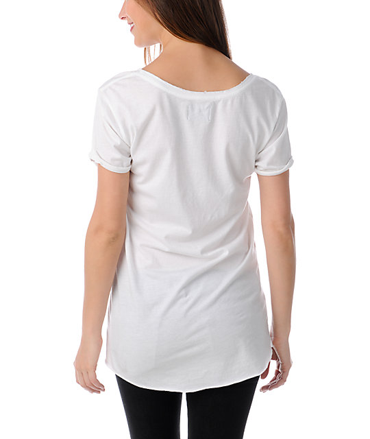 Stussy SS White Scoop Neck T-Shirt