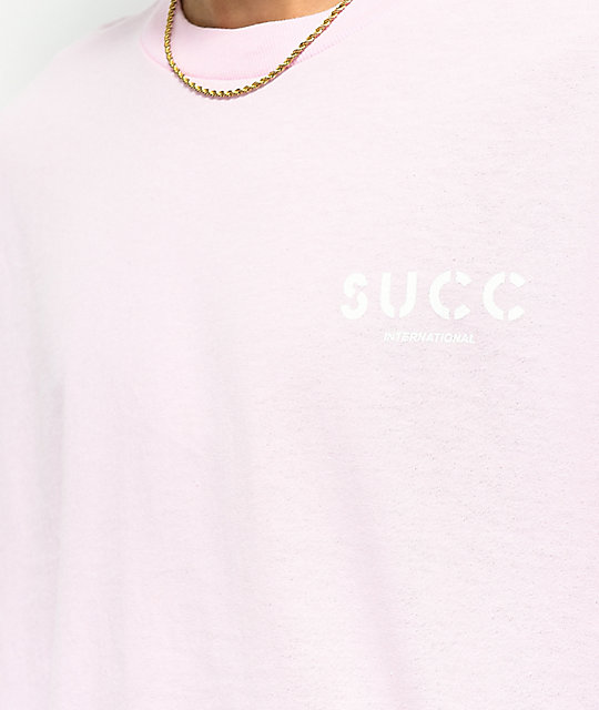 Succ Lil Mayo Throne Light Pink Long Sleeve T-Shirt