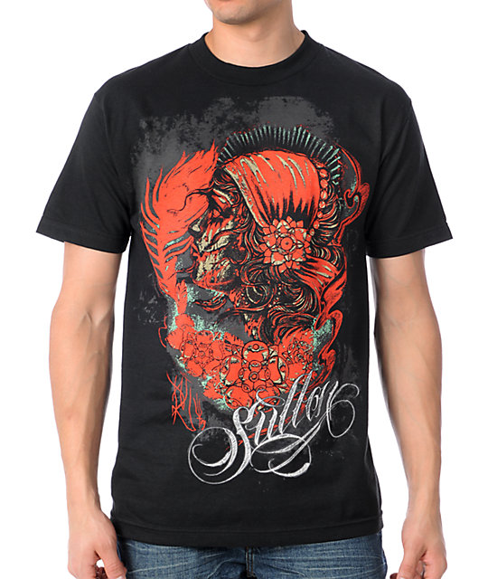 Sullen Broken Stare Black T-Shirt