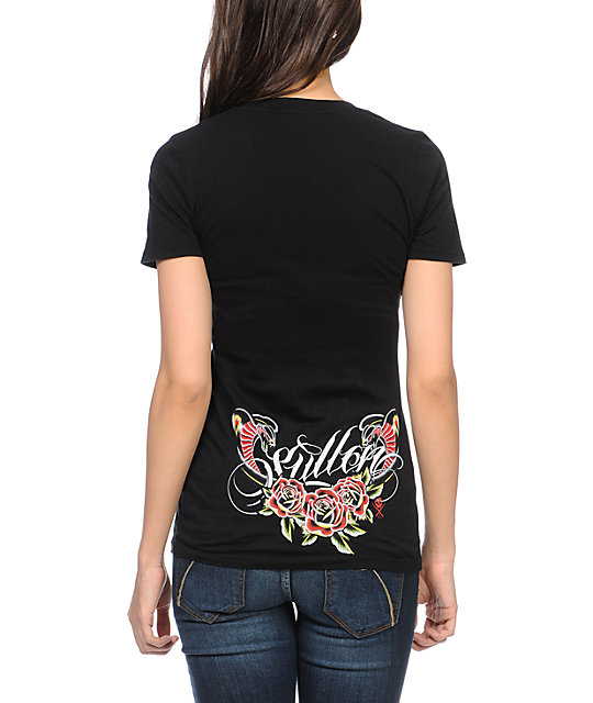 Sullen Gypsy Black V-Neck T-Shirt