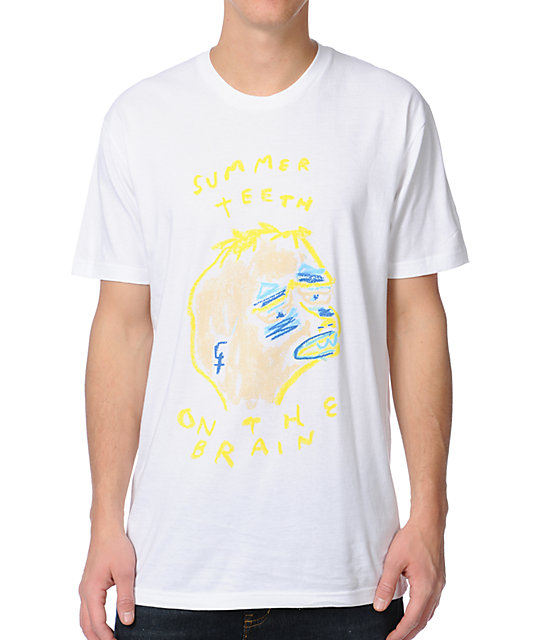 Summer T-Shirt On The Brain White T-Shirt