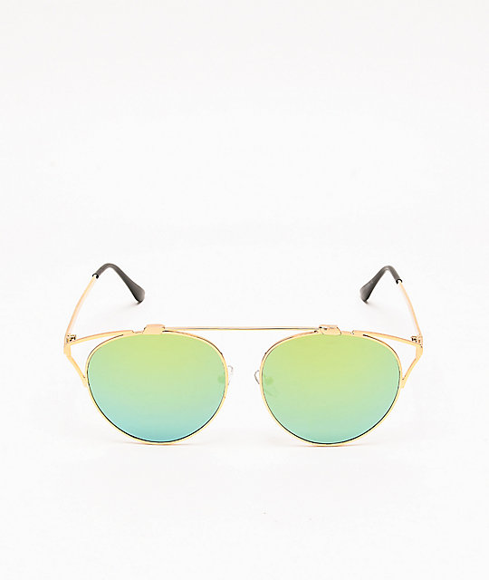 Sunset Silver & Blue Cateye Sunglasses