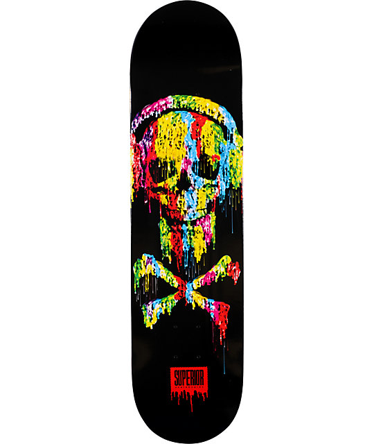 "Superior Skateboards Meltdown 8.0""  Skateboard Deck"