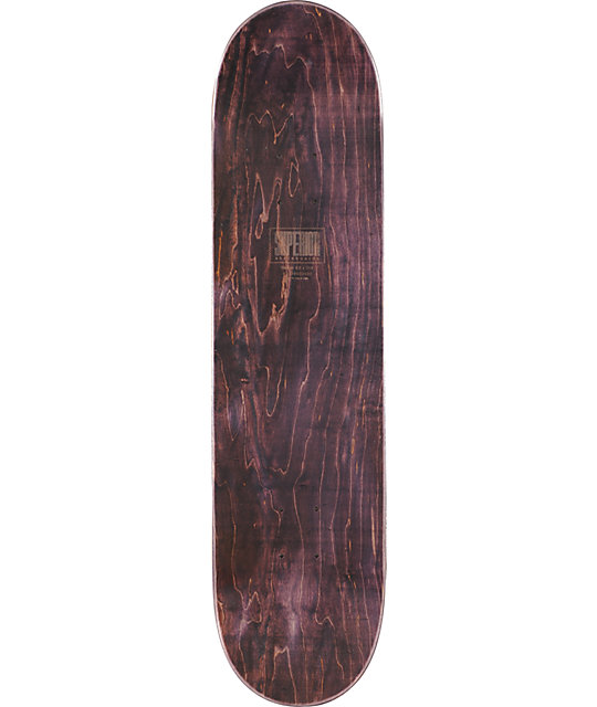 "Superior Skateboards Woody Black 8""  Skateboard Deck"