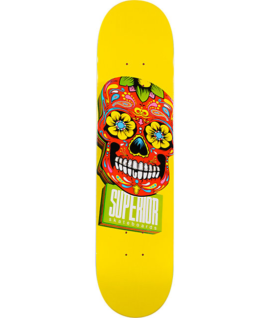 "Superior Woody Yellow & Red 7.6""  Skateboard Deck"