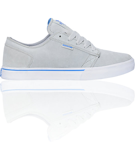 Supra Amigo Light Grey Suede Skate Shoes