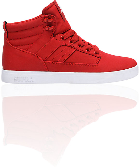 Supra Bandit Red Canvas Express TUF Shoes