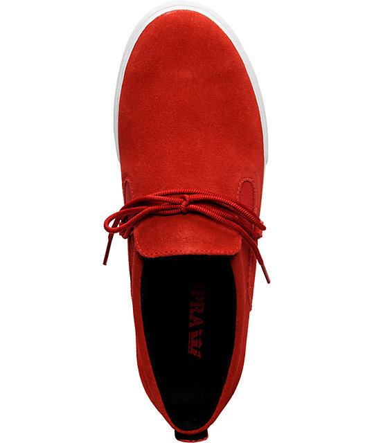 Supra Belay Red Suede Shoes