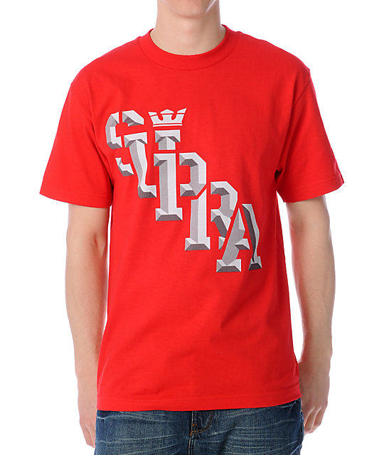 Supra Bevel Slant Red T-Shirt