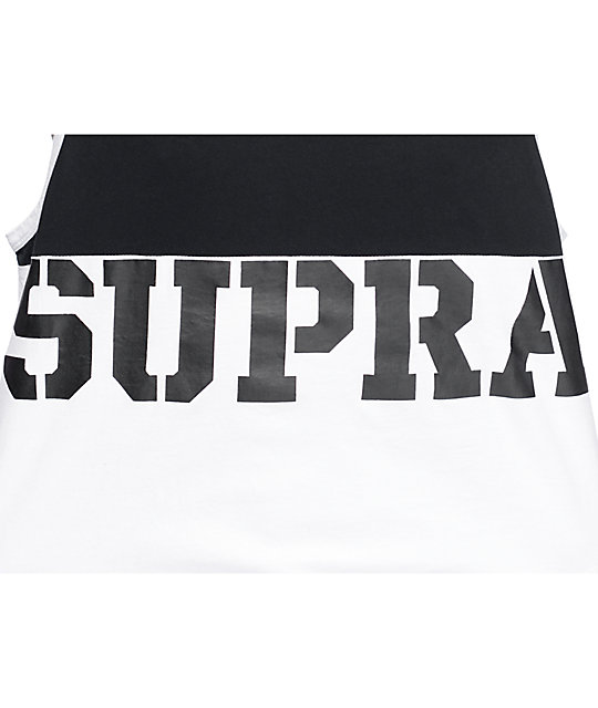 Supra Block Black & White Tank Top