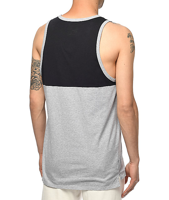 Supra Block Grey & Navy Tank Top