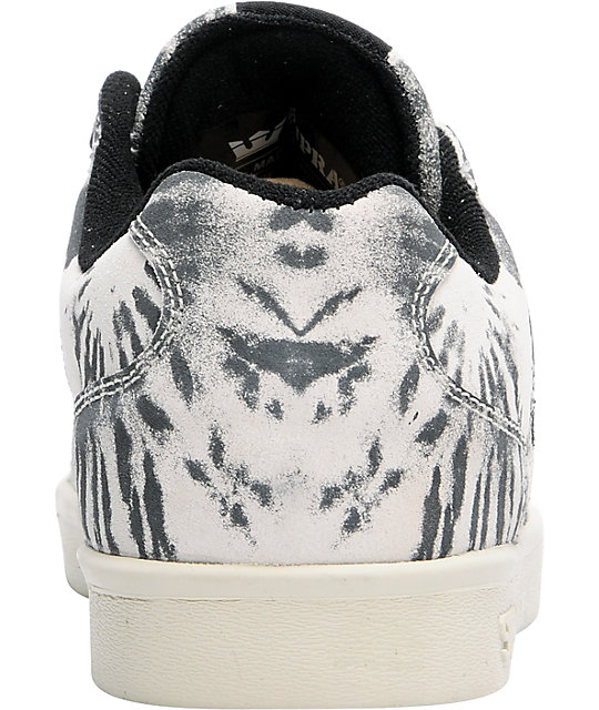 Supra Bullet Lizard King Black Tie-Dye Shoes