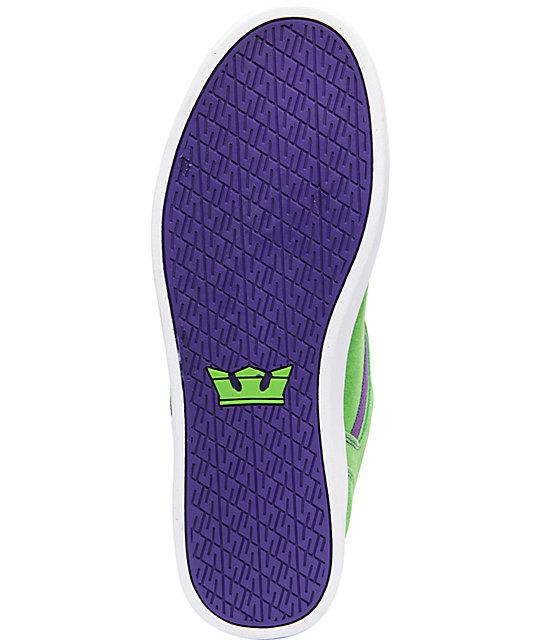f3b98bc169bf ... Supra Bullet Lizard King Green Suede   Purple Skate Shoes