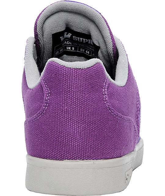 689187596d22 ... Supra Bullet Purple   Grey Suede Lizard King Signature Shoes ...