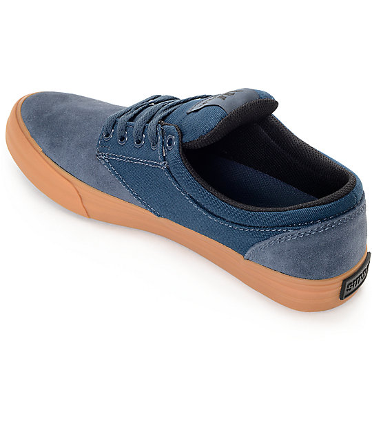 cc91089116aa ... Supra Chino Navy   Gum Skate Shoes ...