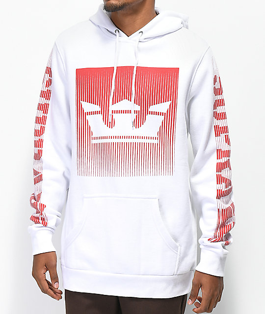 Supra Crown Fade White Hoodie