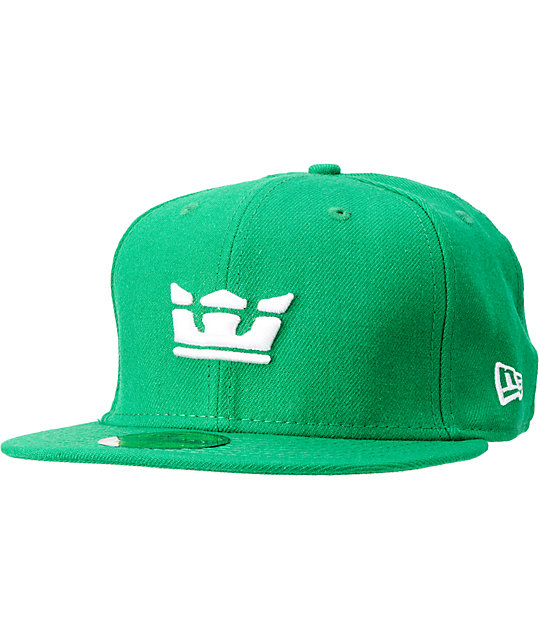Supra Crown Green New Era Fitted Hat  3572eca1905