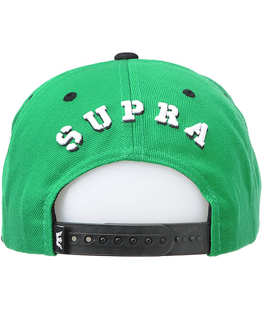 Supra Crown Green Snapback Hat