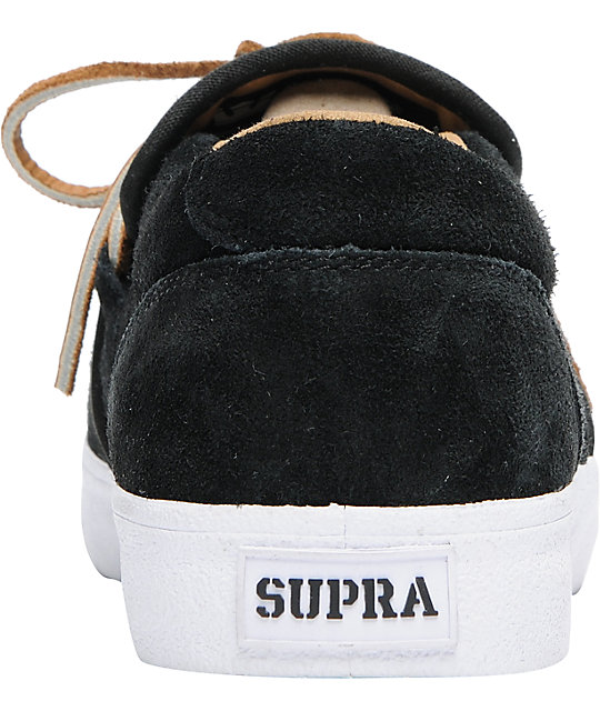 Supra Cuban Black Suede Skate Shoes
