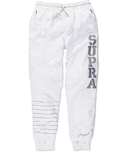 cf5b54e88487 Supra Dash White Track Pants