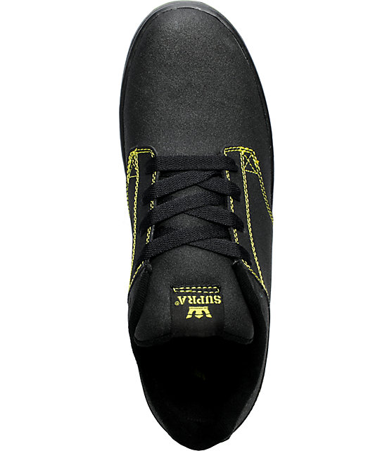 Supra Dixon Black Tuf & Neon Yellow Shoes