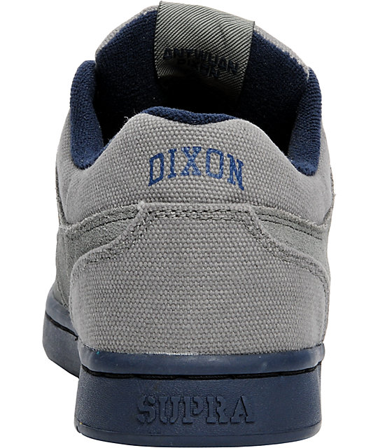 Supra Dixon Grey Suede & Navy Shoes