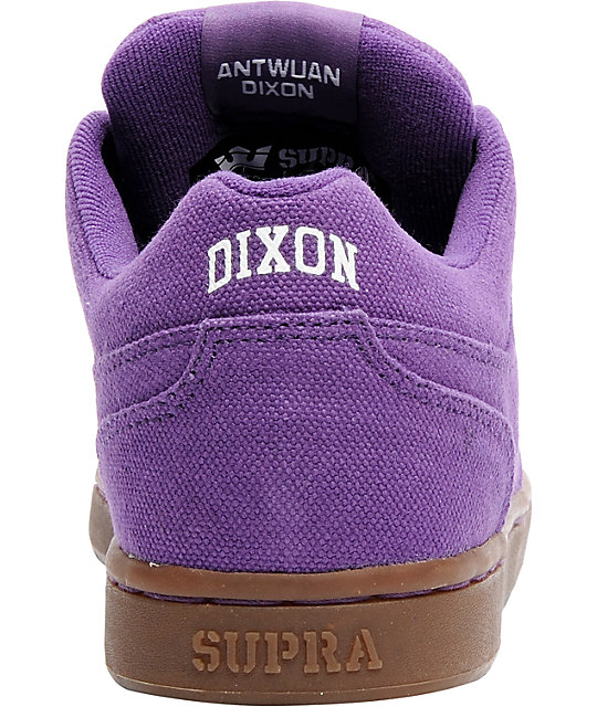 Supra Dixon Purple & Gum Canvas Shoes